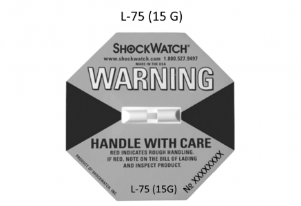 Shockwatch® Label / ШокВотч Лэйбл (L75) индикатор удара