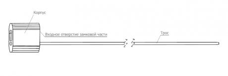 Тросовая пломба Малтилок диаметр 2.5 мм, длина 400 мм