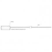 Тросовая пломба Малтилок АБС МИНИ диаметр 1.8 мм, длина 300 мм