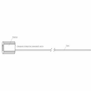 Тросовая пломба Малтилок диаметр 5 мм, длина 450 мм