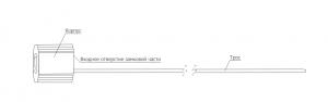 Тросовая пломба Малтилок диаметр 2.5 мм, длина 1500 мм